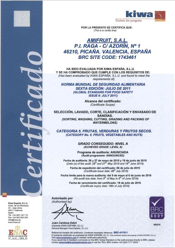 Certificado Kiwa