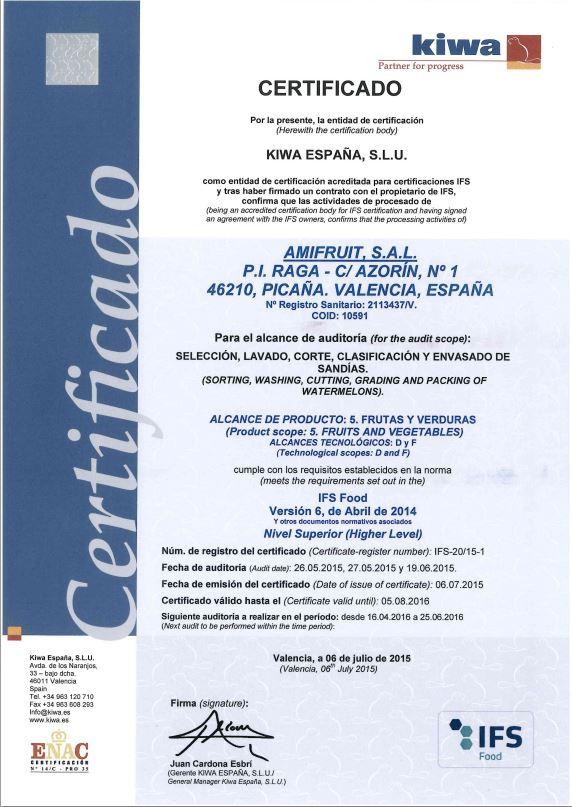 Certificado Kiwa 2